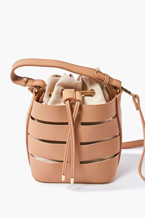 Caged Crossbody Bucket Bag, image 1