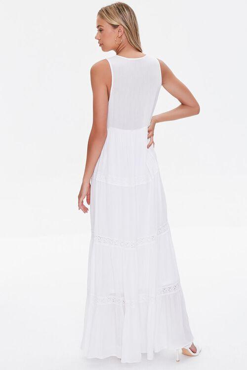 Plunging Lace-Trim Maxi Dress, image 3
