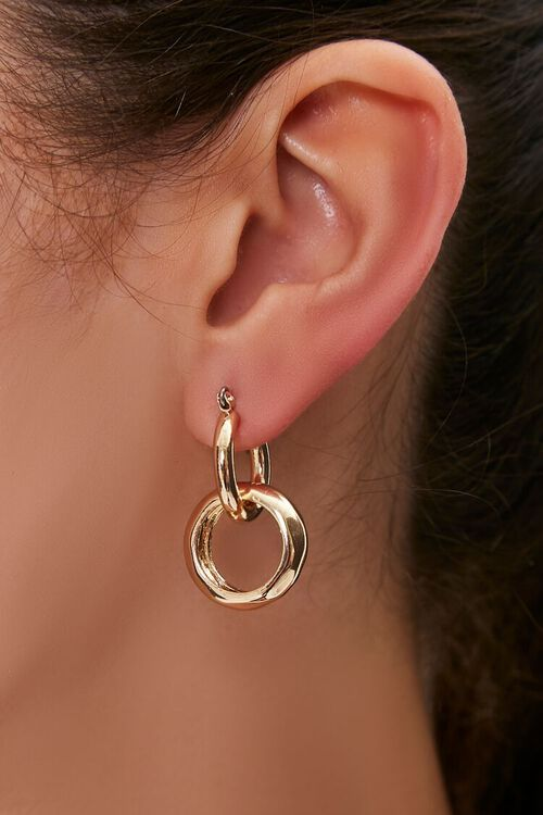 Hoop Drop Earrings, image 1