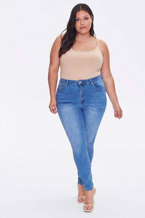 Plus Size Basic Cami Bodysuit, image 4