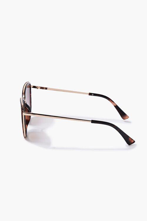 GOLD/BROWN Cat-Eye Frame Sunglasses, image 3