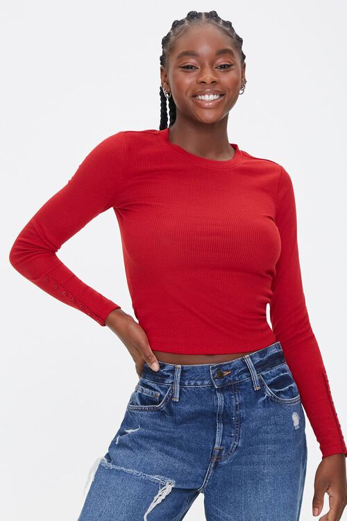Ribbed Long-Sleeve Top, image 1