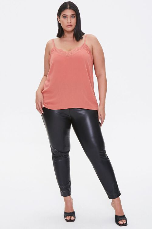 Plus Size Relaxed Lace-Trim Cami, image 4