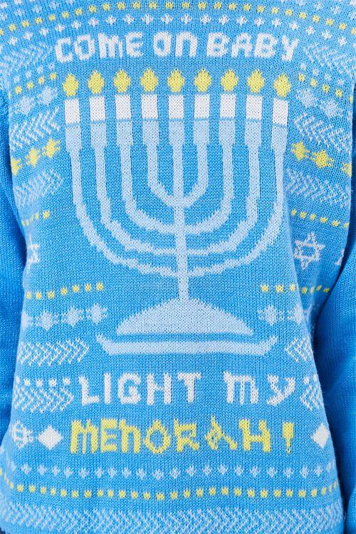 Menorah Intarsia Knit Sweater, image 5