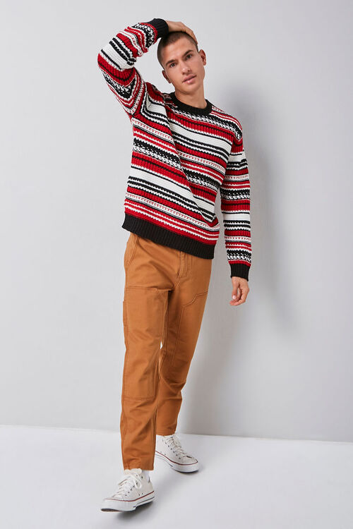 Striped Knit Crew Neck Sweater, image 5