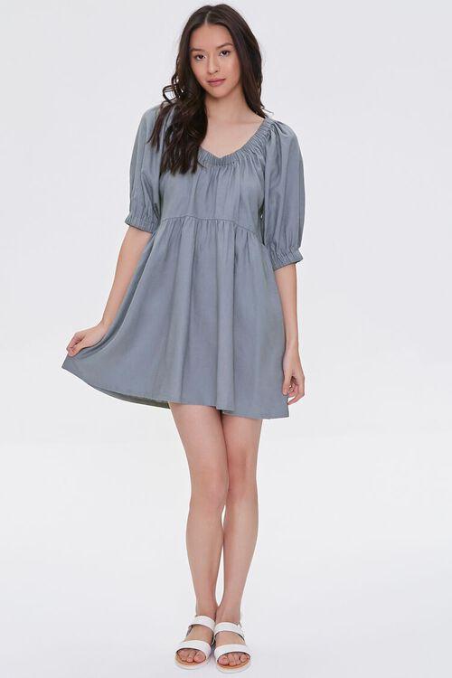Linen-Blend Mini Dress, image 4