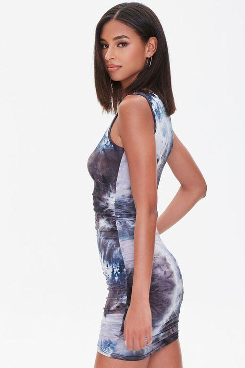 Ruched Tie-Dye Mini Dress, image 2