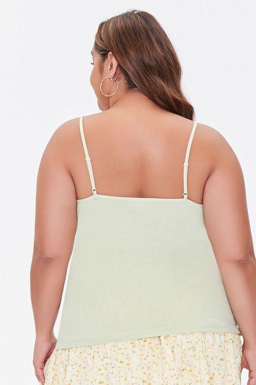 Plus Size Basic Organically Grown Cotton Cami, image 3