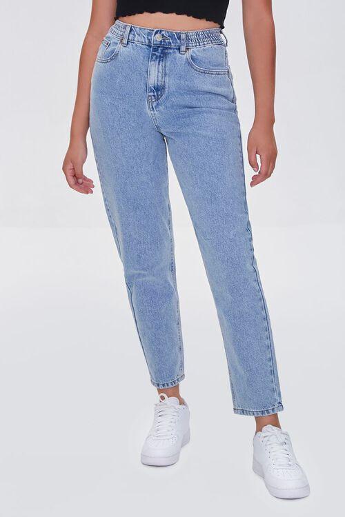 LIGHT DENIM High-Rise Mom Jeans, image 2