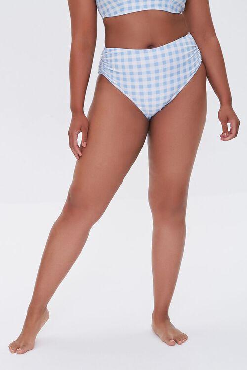 Plus Size Gingham Bikini Bottoms, image 2
