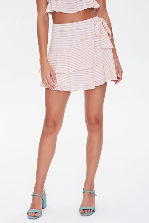 Striped Flounce Mini Skirt, image 2