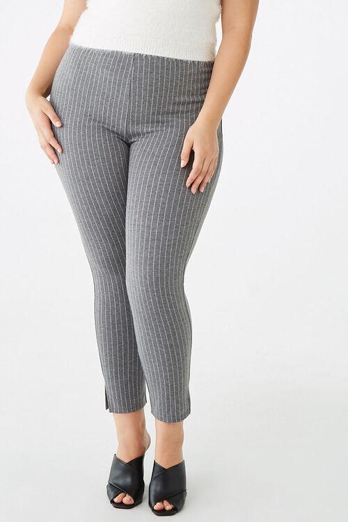 Plus Size Pinstriped Leggings, image 1