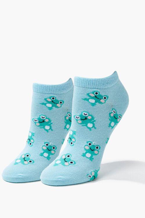 Frog Print Ankle Socks, image 1
