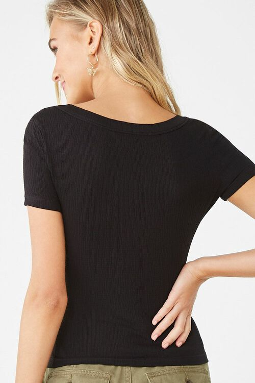 Textured Button Front Top, image 3
