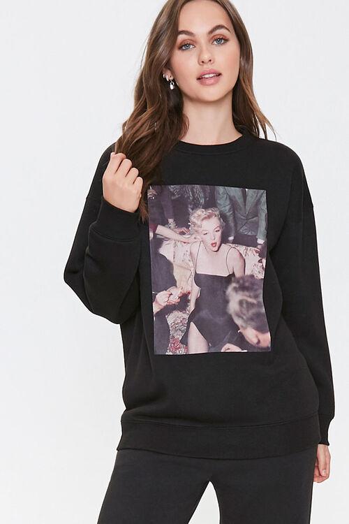 Fleece Marilyn Monroe Sweatshirt, image 1