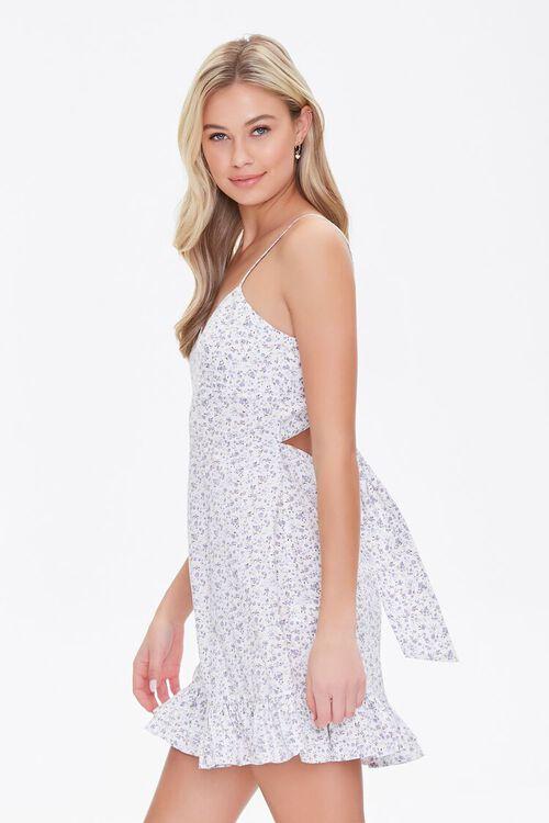 Floral Print Tie-Back Mini Dress, image 2