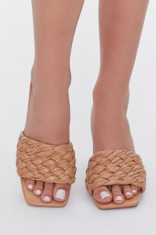Basketwoven Square-Toe Heels, image 4