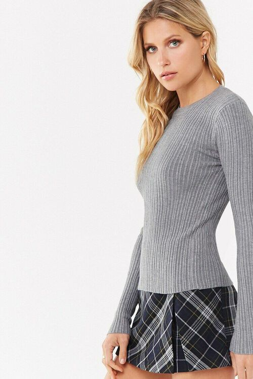 Ribbed Round Neck Sweater, image 3
