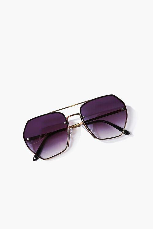 Aviator Geo Metal Sunglasses, image 4