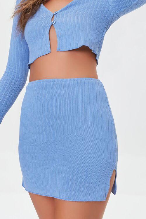 Ribbed Crop Top & Mini Skirt Set, image 6