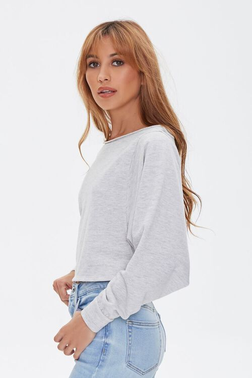 HEATHER GREY French Terry Pullover, image 3