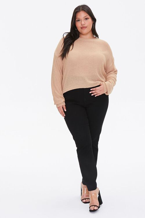 Plus Size Ribbed-Trim Sweater, image 4