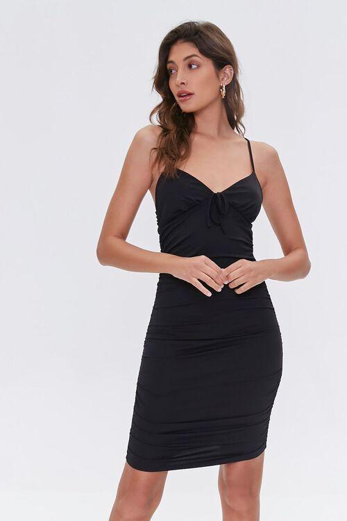 Ruched Mini Cami Dress, image 1