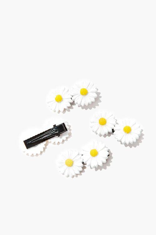 WHITE/YELLOW Daisy Hair Clip Set, image 2