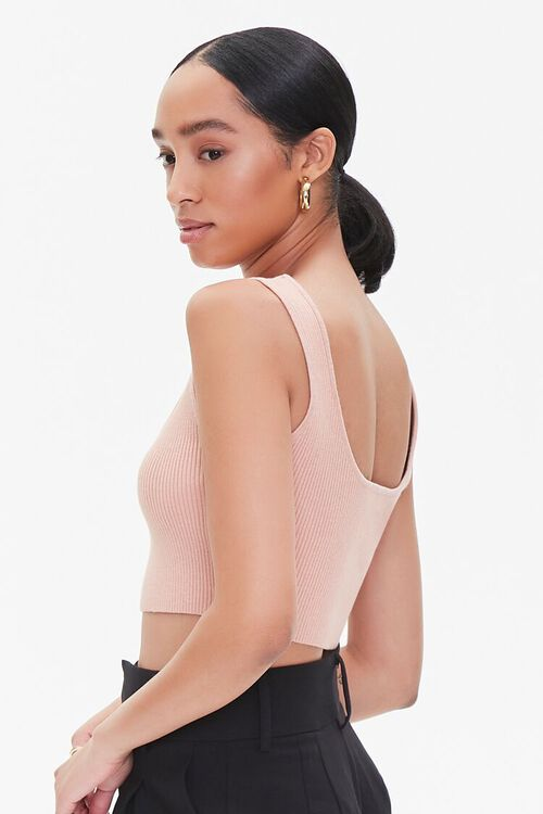 ROSE Sweater-Knit Cropped Tank Top, image 2