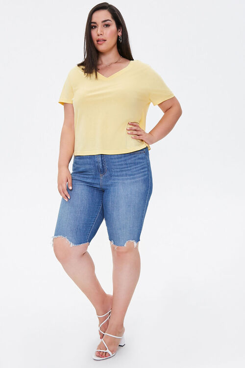 Plus Size Relaxed V-Neck Tee, image 4