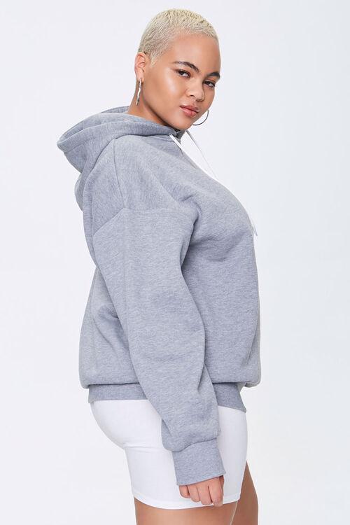 Plus Size Fleece Drawstring Hoodie, image 2
