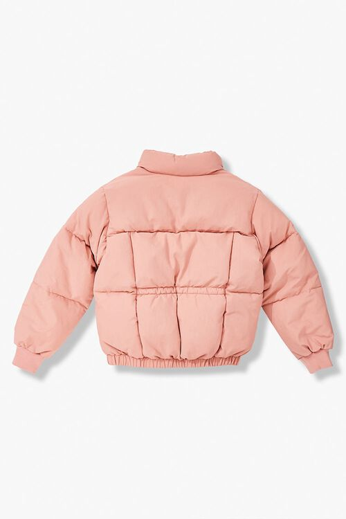 Girls Pull-Ring Puffer Jacket (Kids), image 2