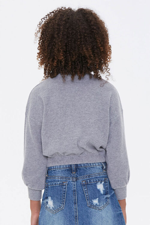Girls Ribbed Turtleneck Top (Kids), image 3
