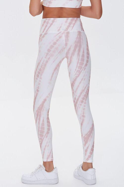ROSE/WHITE Active Tie-Dye Leggings, image 4