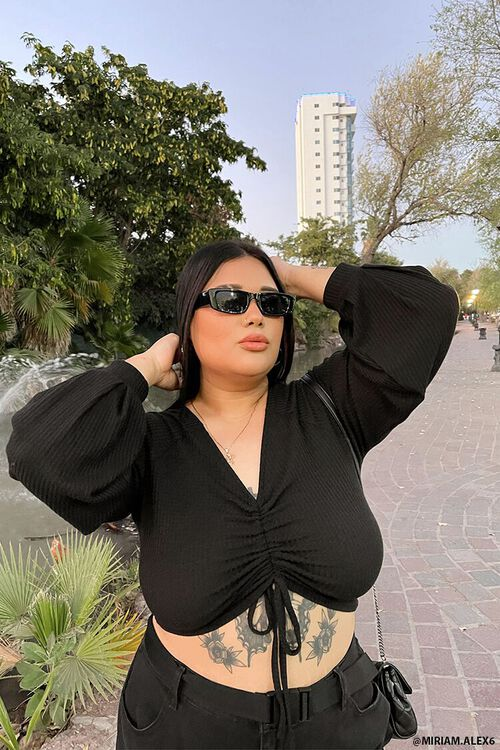 Plus Size Ribbed Crop Top, image 1