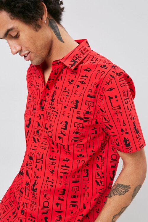 Hieroglyphics Print Pocket Shirt, image 1