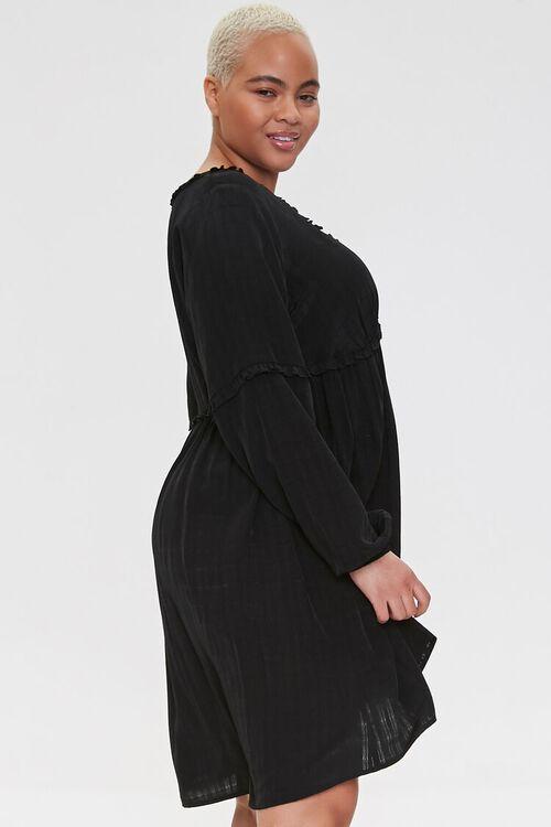 Plus Size Ruffled Knee-Length Dress, image 2