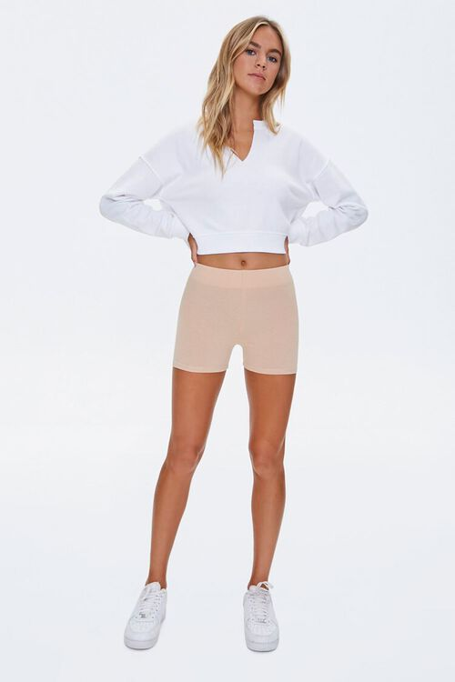 Cotton-Blend 3-Inch Biker Shorts, image 5