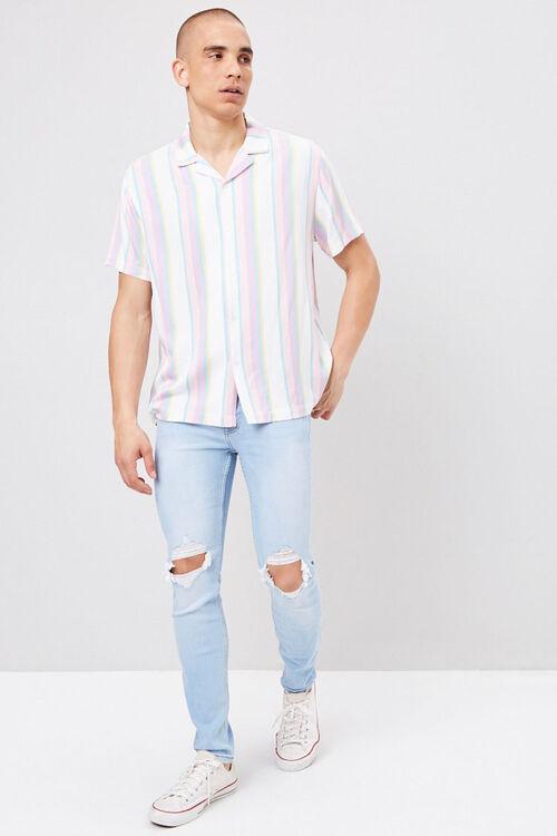 Distressed Paint Splatter Jeans, image 1