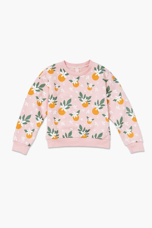 Girls Fruit Print Pullover (Kids), image 1
