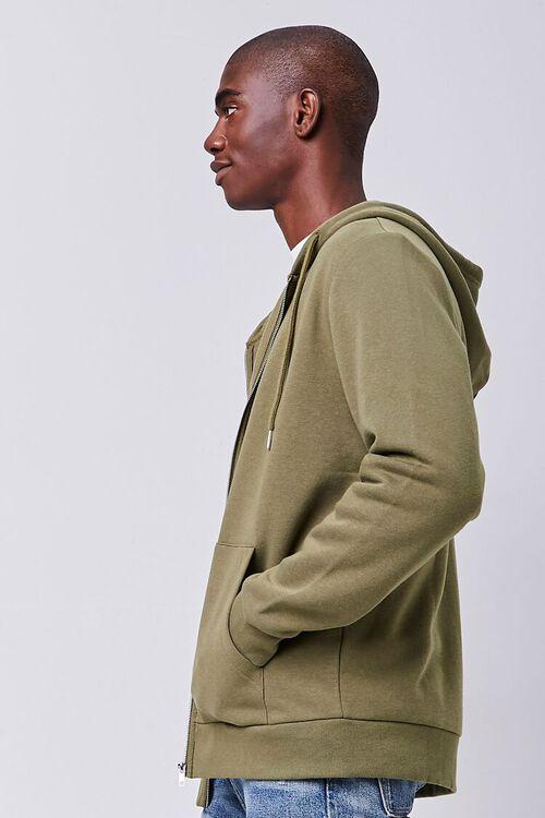 OLIVE Fleece Zip-Up Hoodie, image 2