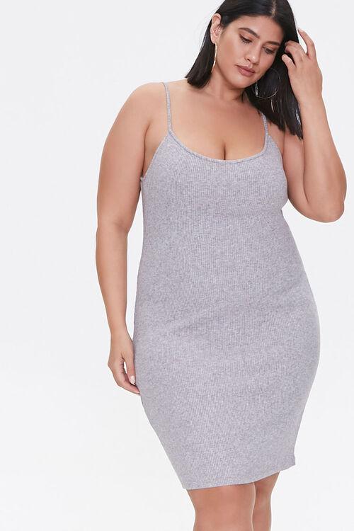 Plus Size Ribbed Cami Dress, image 1