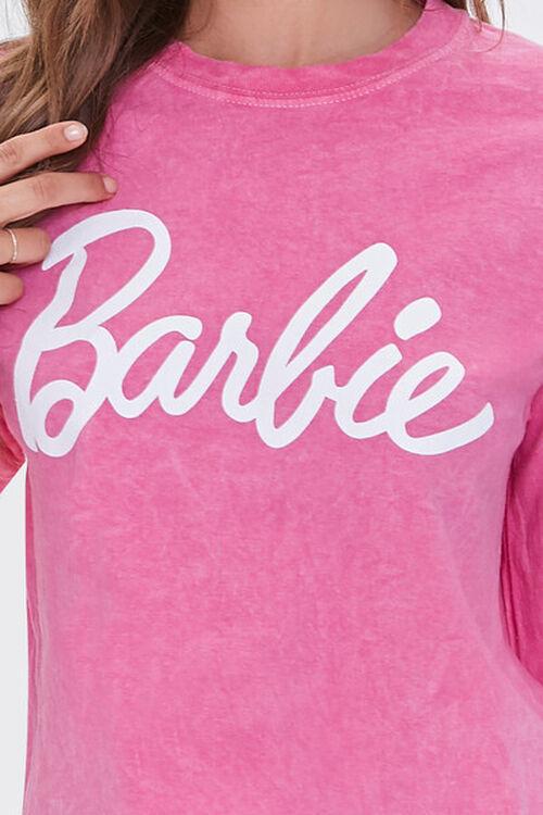 PINK/WHITE Acid Wash Barbie™ Graphic Top, image 5