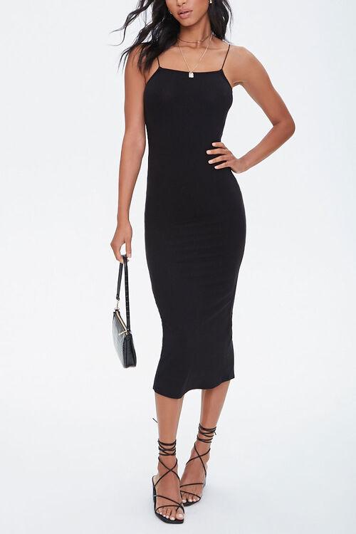 Ribbed Slit Midi Dress, image 2