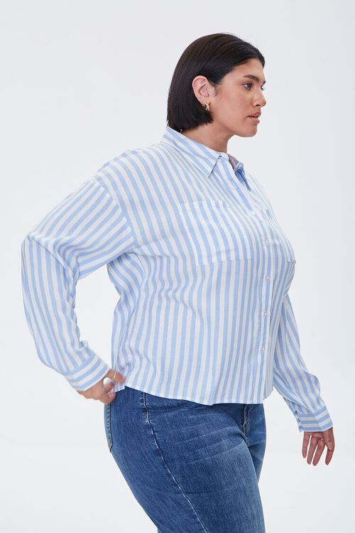 Plus Size Striped Shirt, image 2