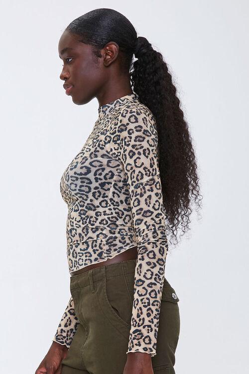 Leopard Print Mock Neck Top, image 2