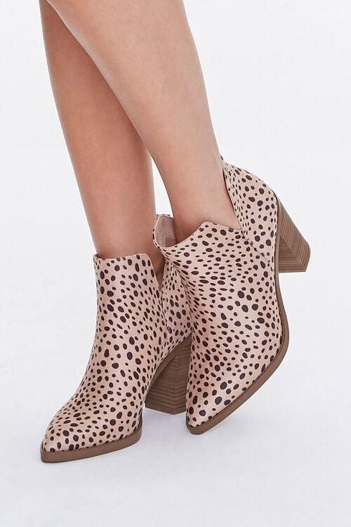 Cheetah Stacked Heel Booties, image 1