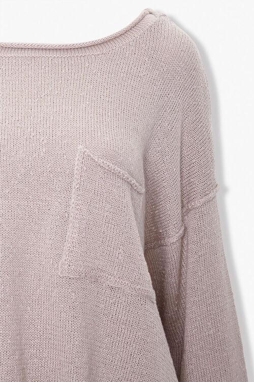 Slub Knit Pocket Sweater, image 3