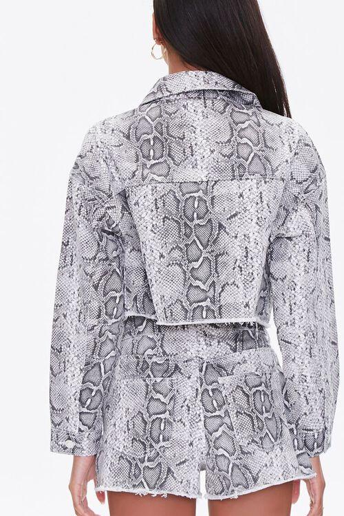 Snake Print Denim Jacket, image 3