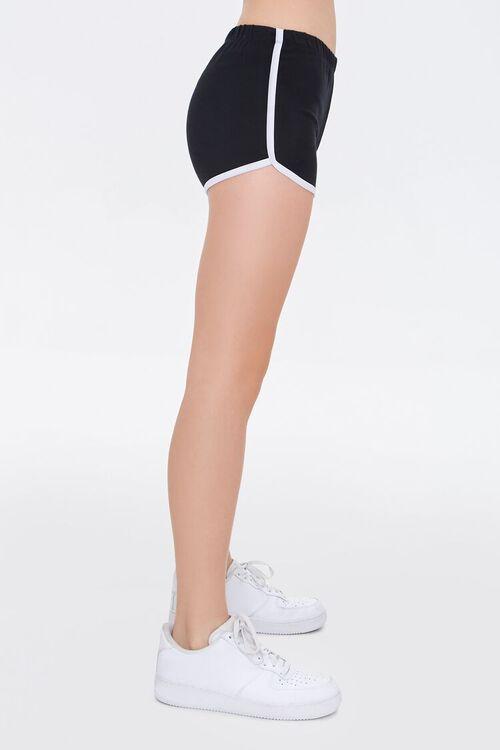 BLACK/CREAM Ringer Dolphin Shorts, image 3
